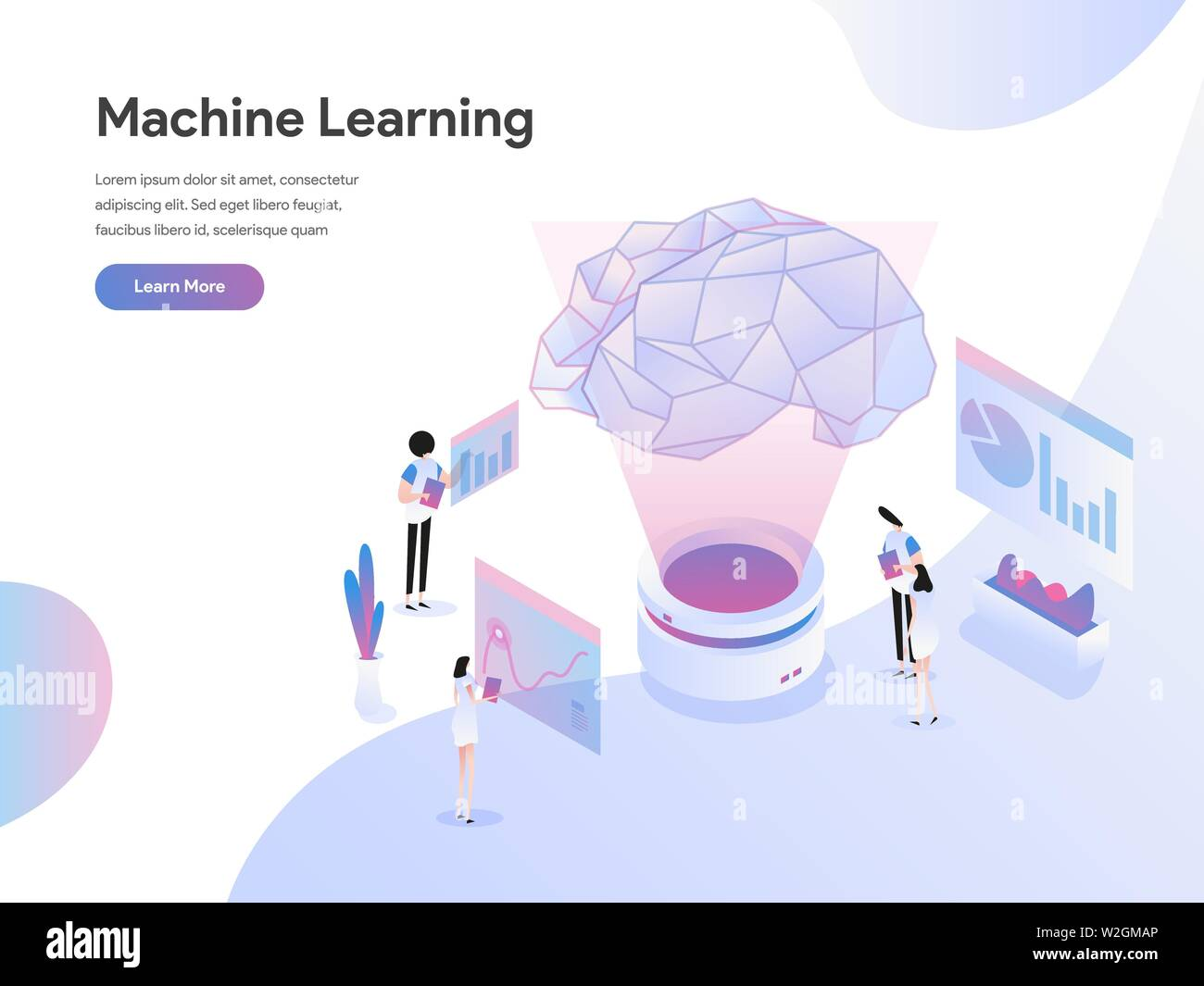 Landing page template of Machine Learning Illustration