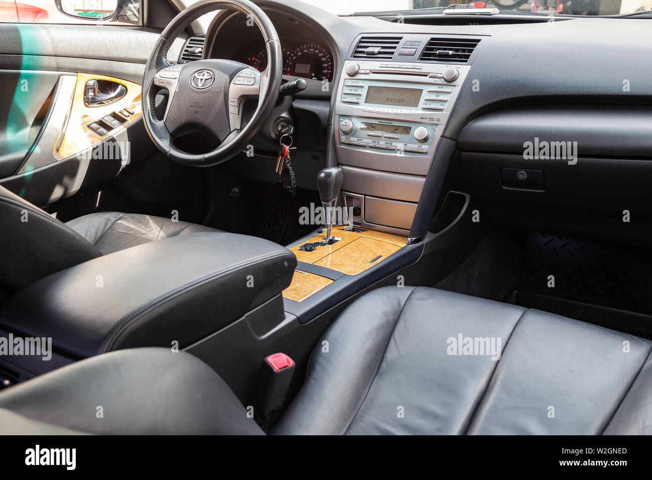 Toyota Camry Interior >> Novosibirsk Russia 07 09 2019 View To The Interior Of