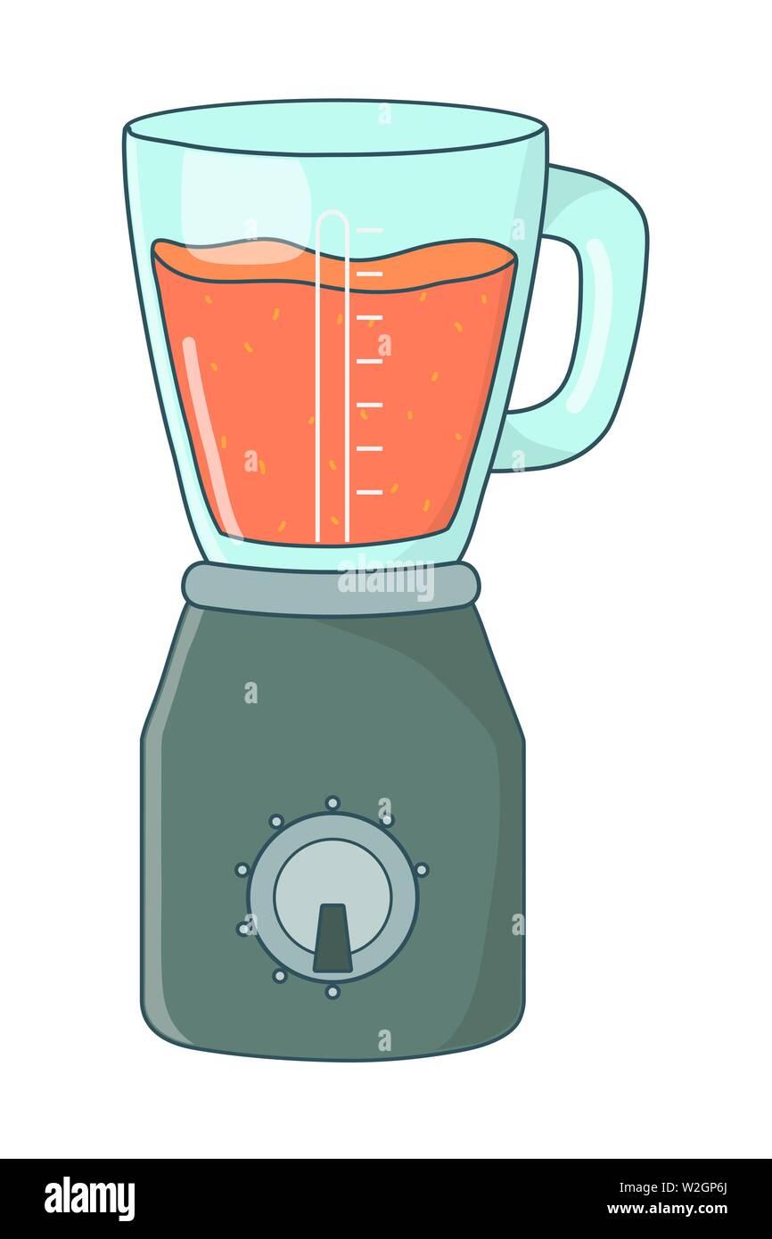 delicious healthy fruit orange smoothie inside blender