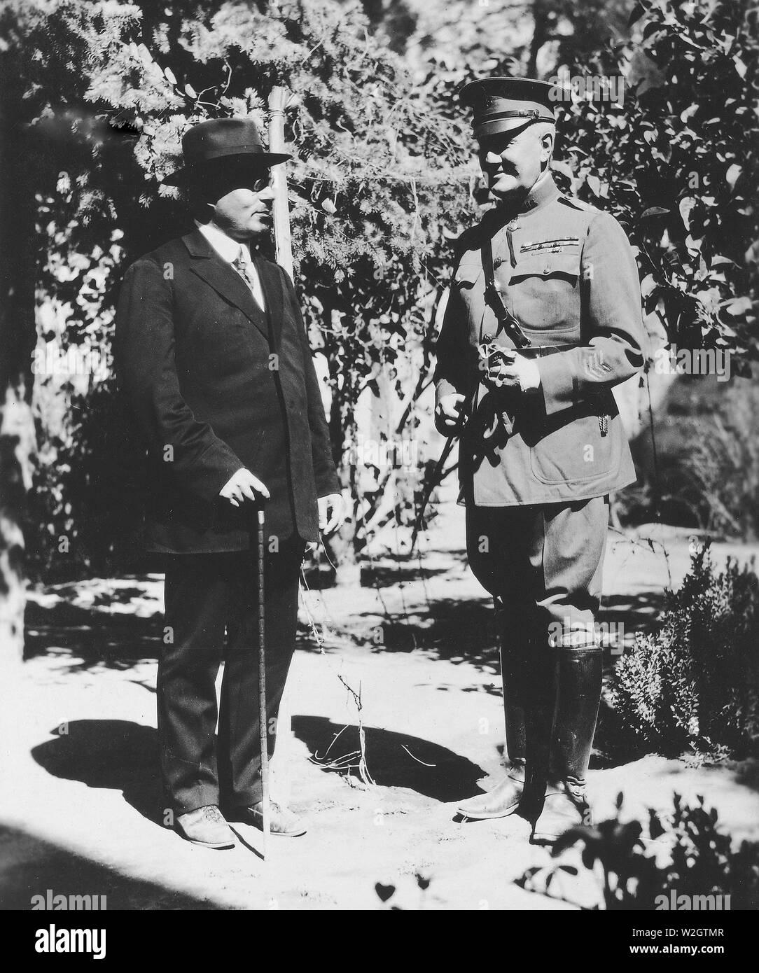 GEN. HARBORD AND A. KHATISSIAN, Prime Minister of Armenia. Erivan, Armenia - Stock Image