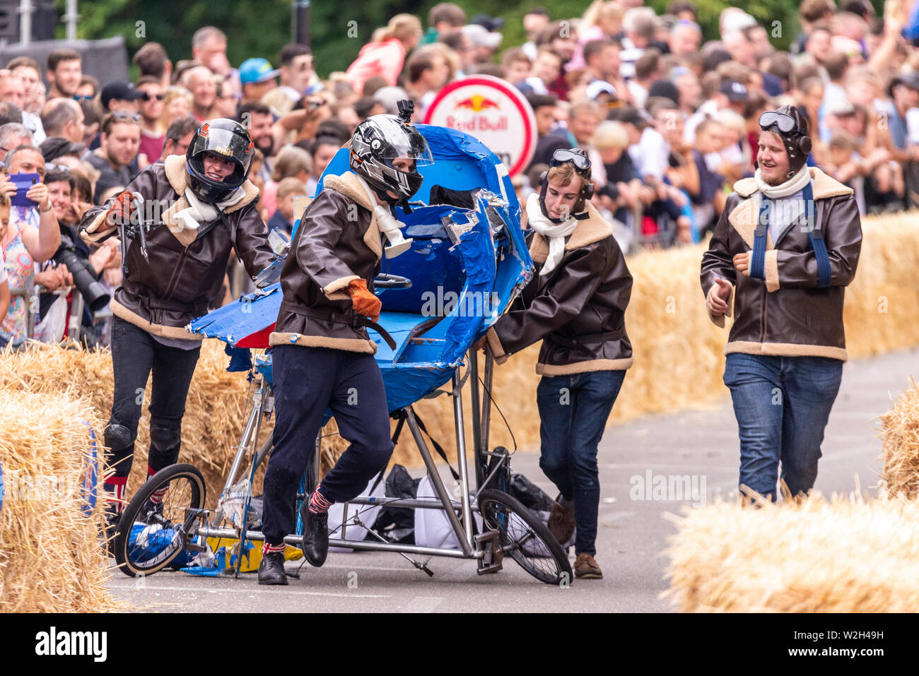 Mighty Magnificent Men competing in the Red Bull Soapbox