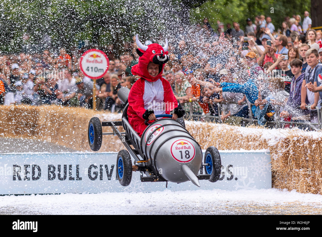 Red Bull Soap Box Derby >> Bulls Eye Giant Dart Competing In The Red Bull Soapbox Race