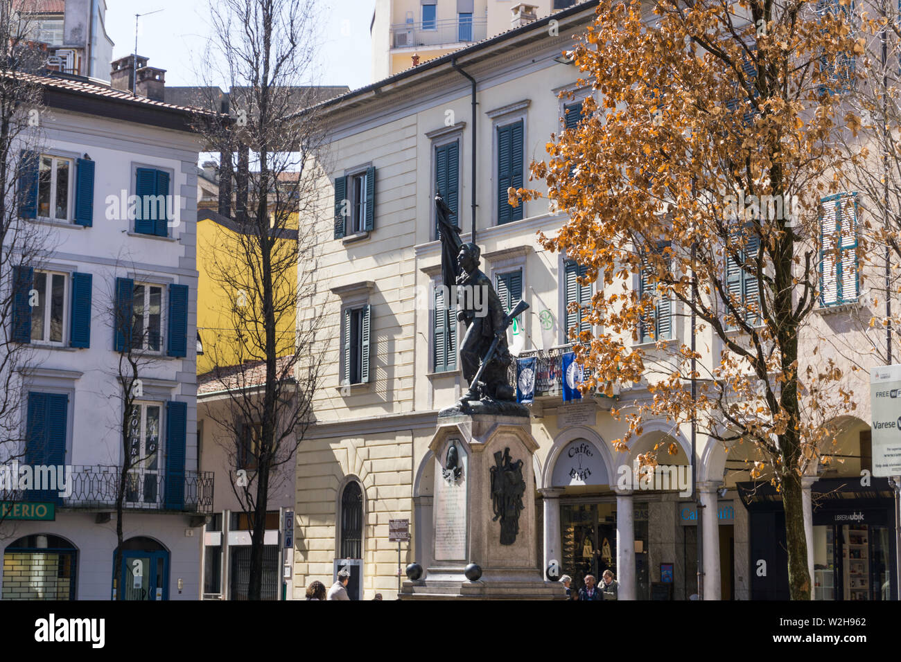Italy, Lombardy, Varese, Piazza del Podestà Stock Photo