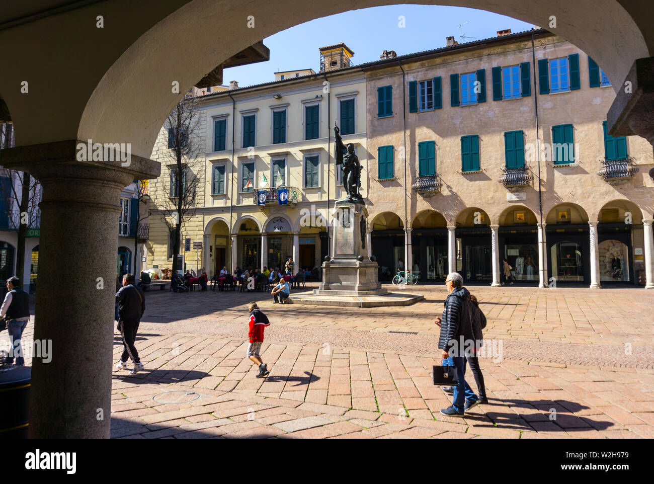 Italy, Lombardy, Varese, Piazza del Podestà Stock Photo