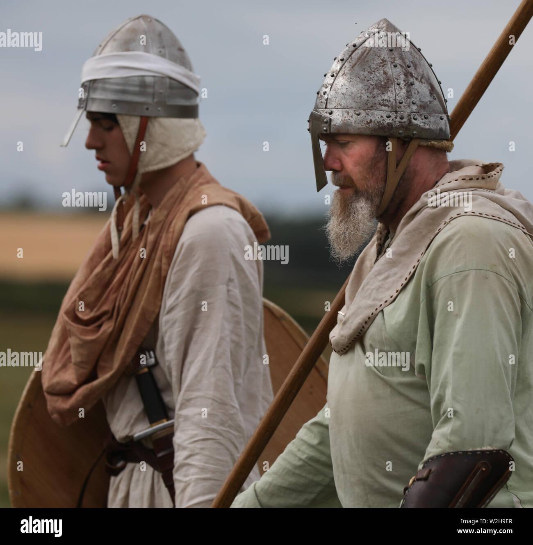 The Vikings Two Viking Warriors Stock Photo 259765487 Alamy