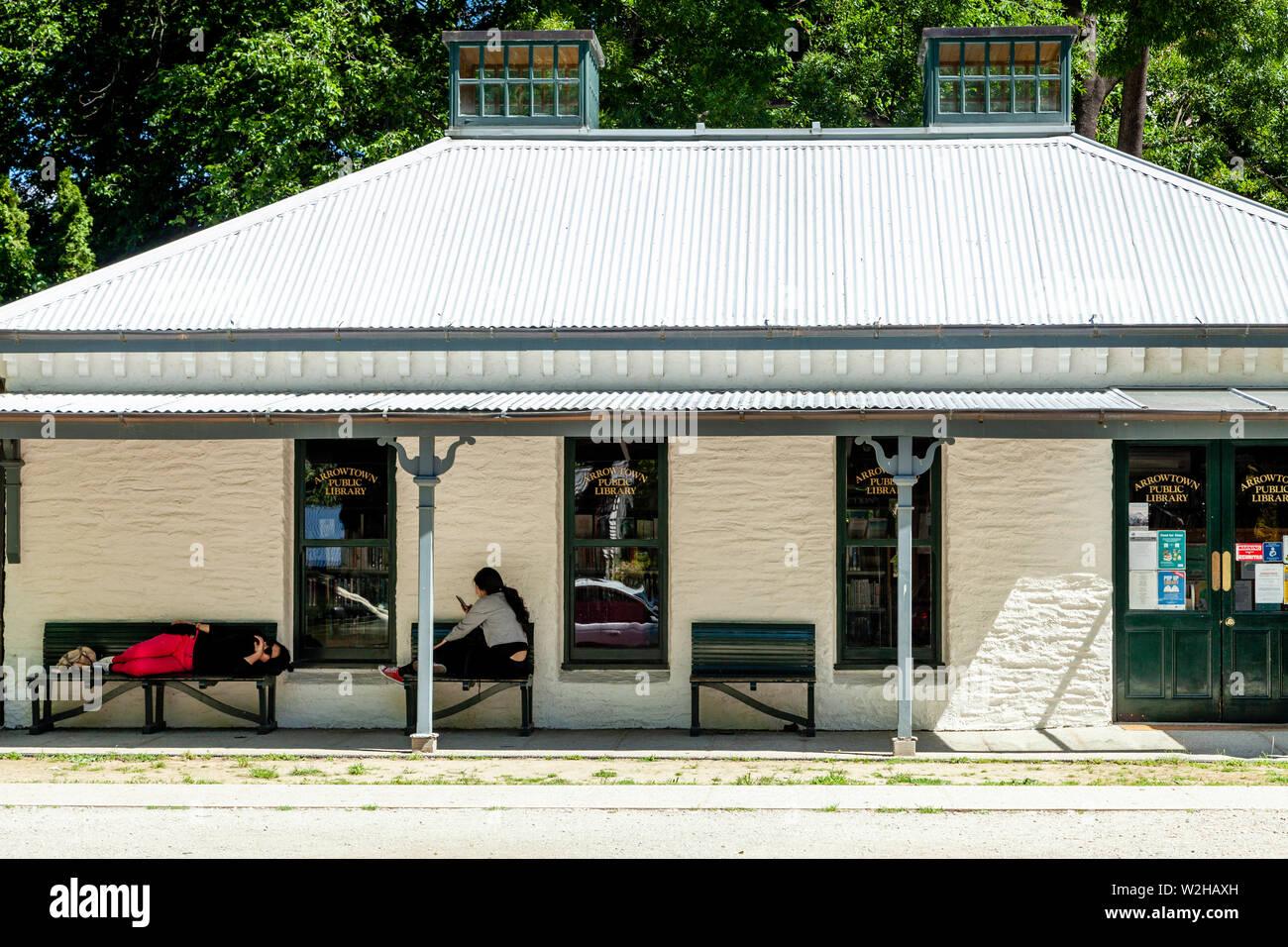Arrowtown Public Library, Arrowtown, Otago Region, South Island, New Zealand - Stock Image