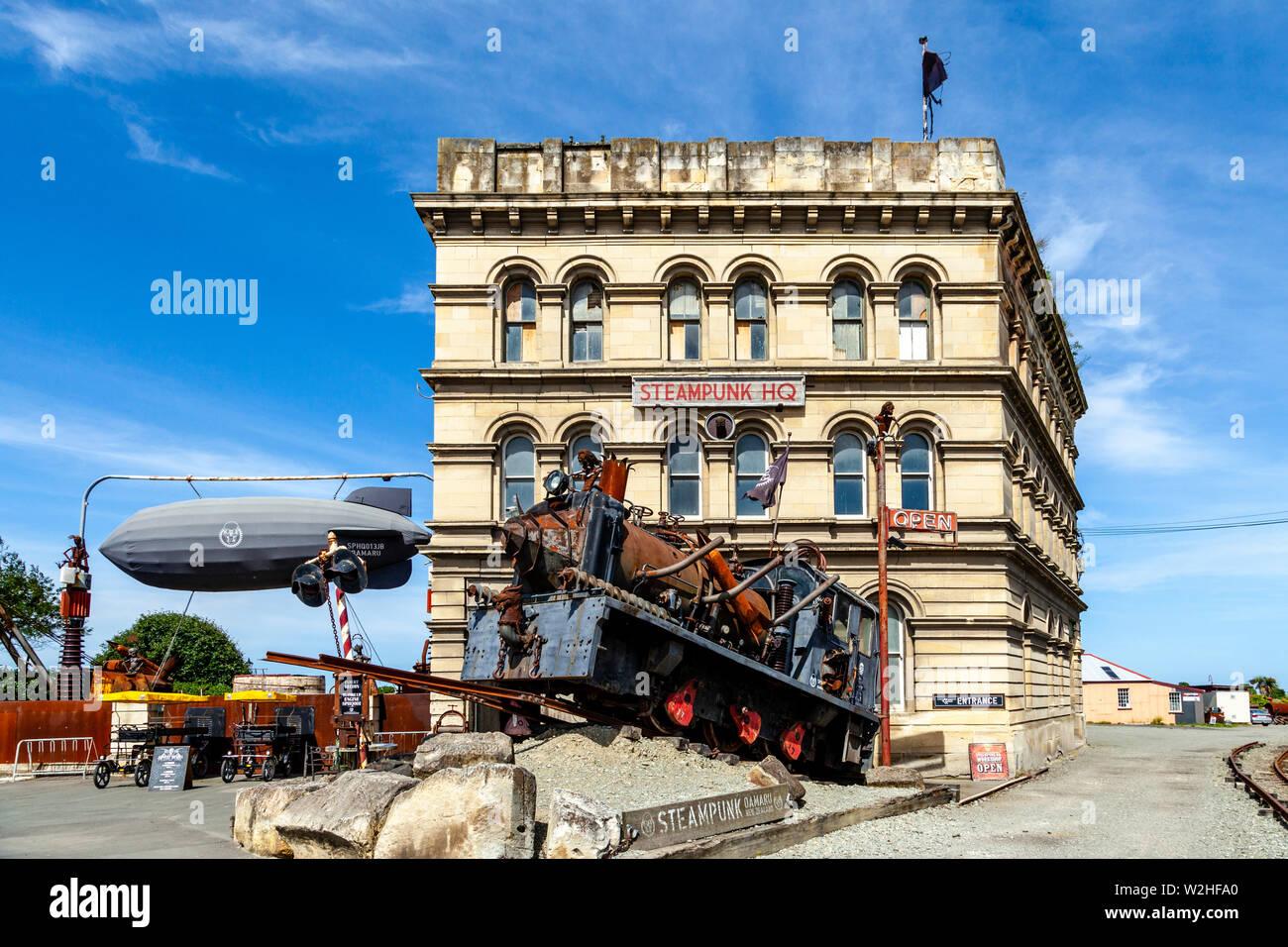 The Steampunk HQ Gallery, Victorian Heritage Precinct, Oamaru, North Otago, South Island, New Zealand - Stock Image