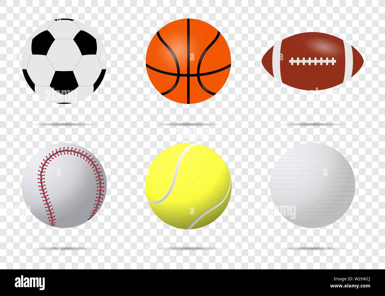 Realistic Sports Balls Vector Big Set Isolated On Transparent Background Illustration Of Golf And Baseball Football Game And Tennis Eps 10 Stock Vector Image Art Alamy