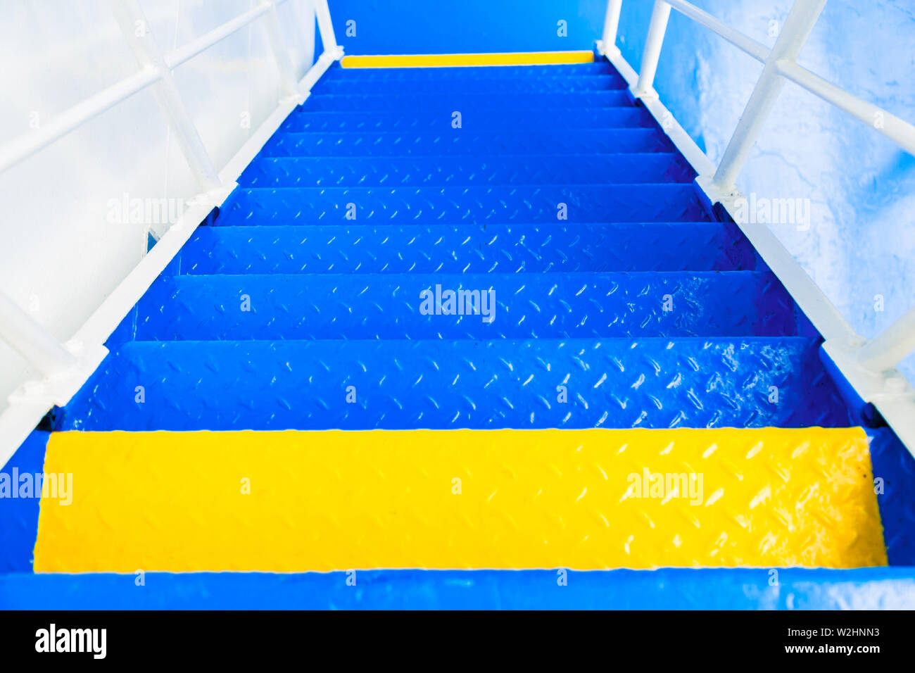 Cruise ship stairs - Stock Image