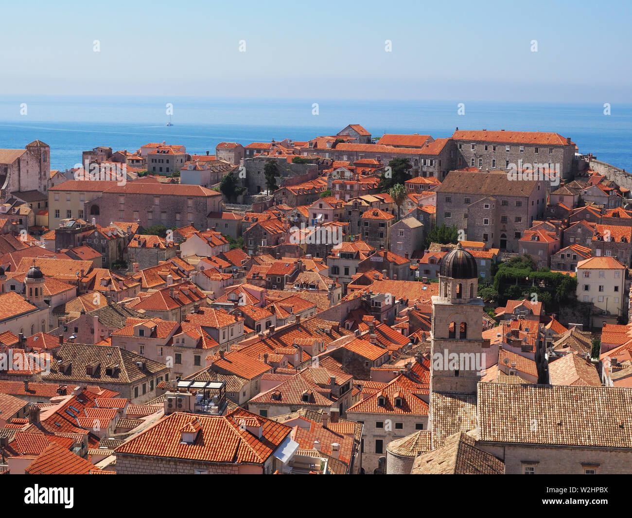 Dubrovnik terracotta roofs old town Stock Photo