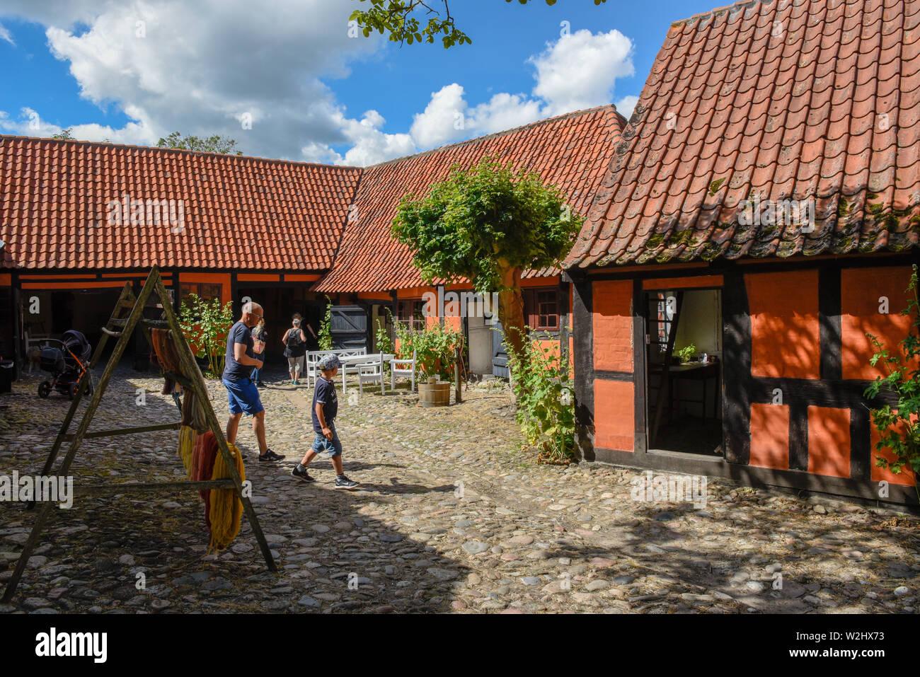 Ebeltoft, Denmark - 22 June 2019: the traditional historic village of Ebeltoft on Jutland in Denmark Stock Photo
