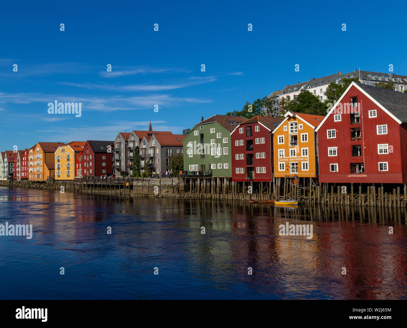 River Nidelva, Trondheim, Norway Stock Photo