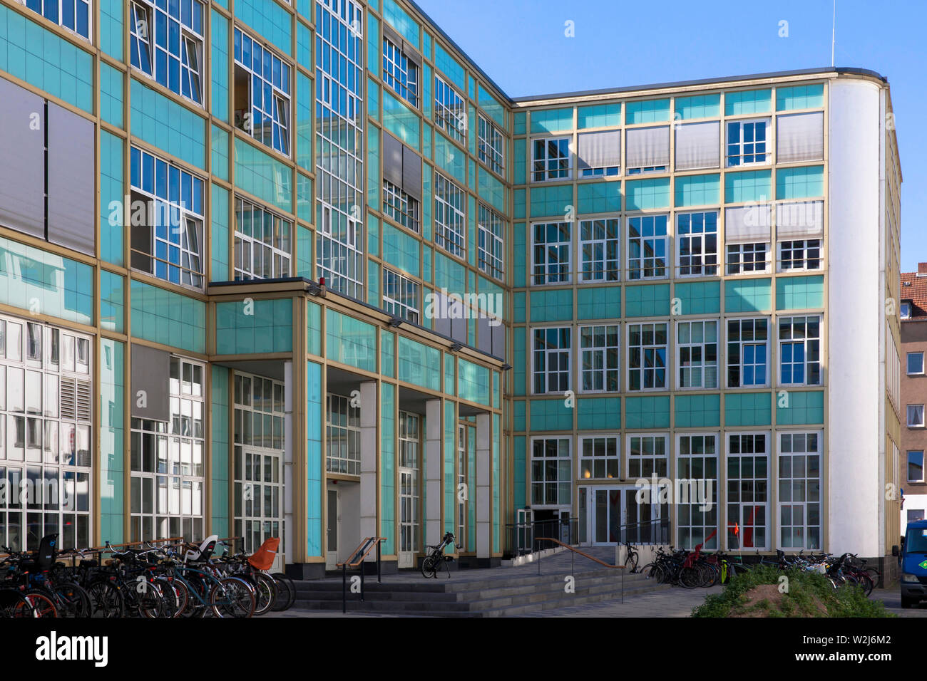 the Barthonia-Forum at the Venloer street in the district Ehrenfeld, former warehouse of the Muelhens company, manufacturer of perfume 4711 Eau de Col Stock Photo