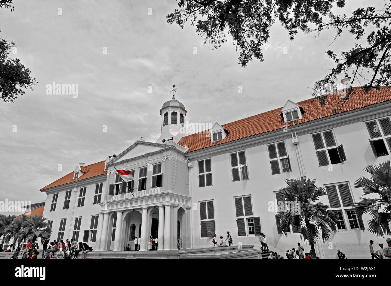 jakarta, dki jakarta/indonesia - may 05, 2010: the historic city hall of batavia at taman fatahillah in kota tua - Stock Image