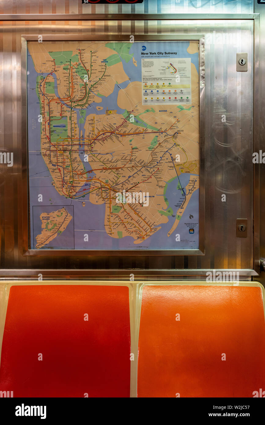 Subway Map Floating On A Ny Sidewalk New York Ny.New York Subway Map Stock Photos New York Subway Map Stock Images