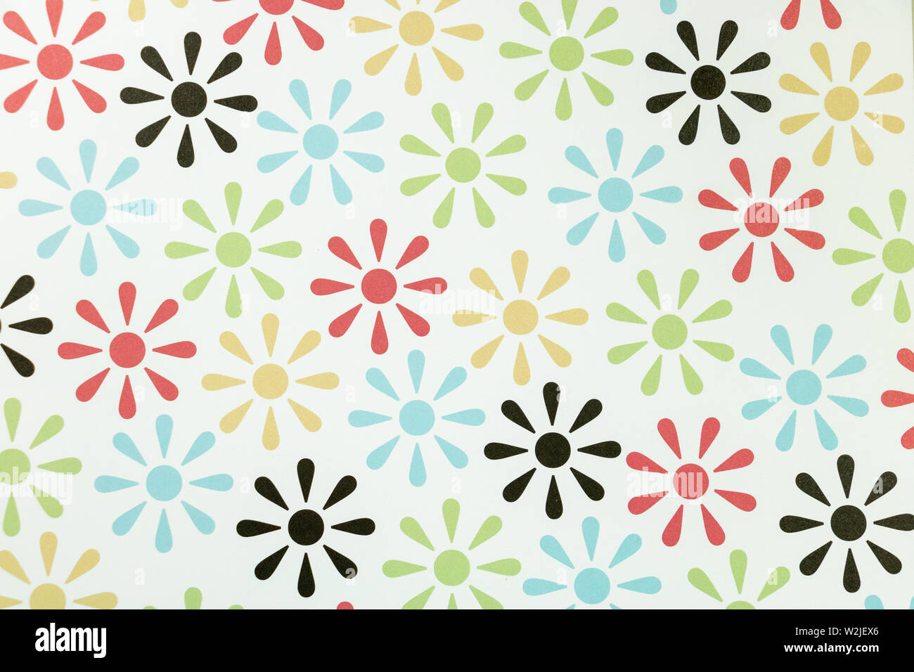 Floral 70s Wallpaper Background Stock Photos Floral 70s