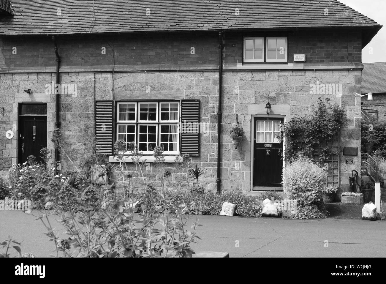 Hawarden is a small village in Clwyd wales - Stock Image