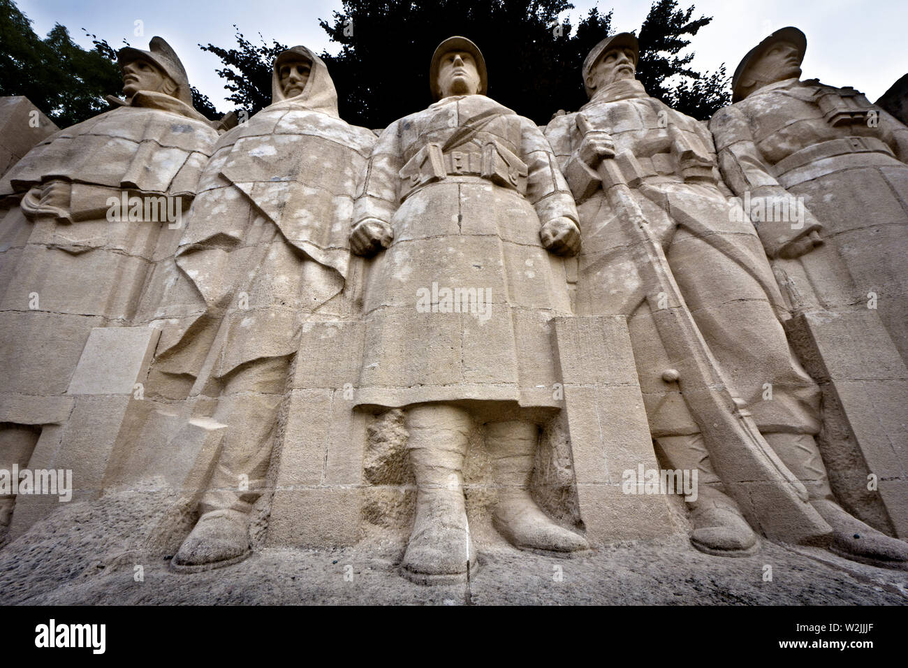 "The ""Monument aux morts de Verdun"" (Monument to the Dead of Verdun). Verdun, Meuse department, Grand Est region, France, Europe. Stock Photo"