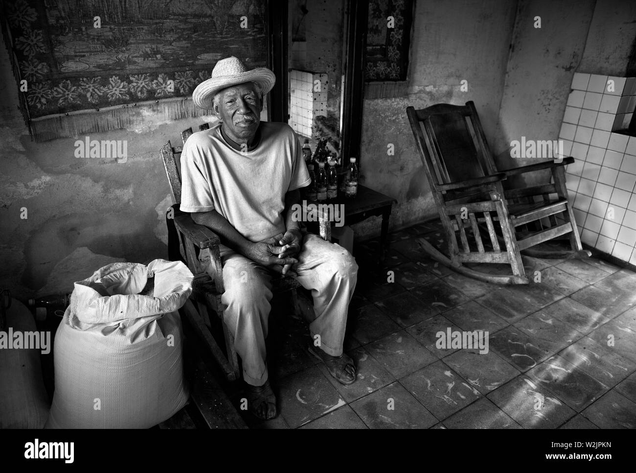 Picture of: Old Man In Rocking Chair High Resolution Stock Photography And Images Alamy