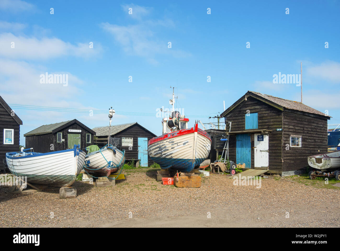Dry dock boats - Stock Image