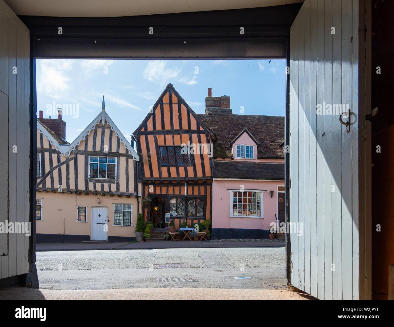 Lavenham Village Stock Photo
