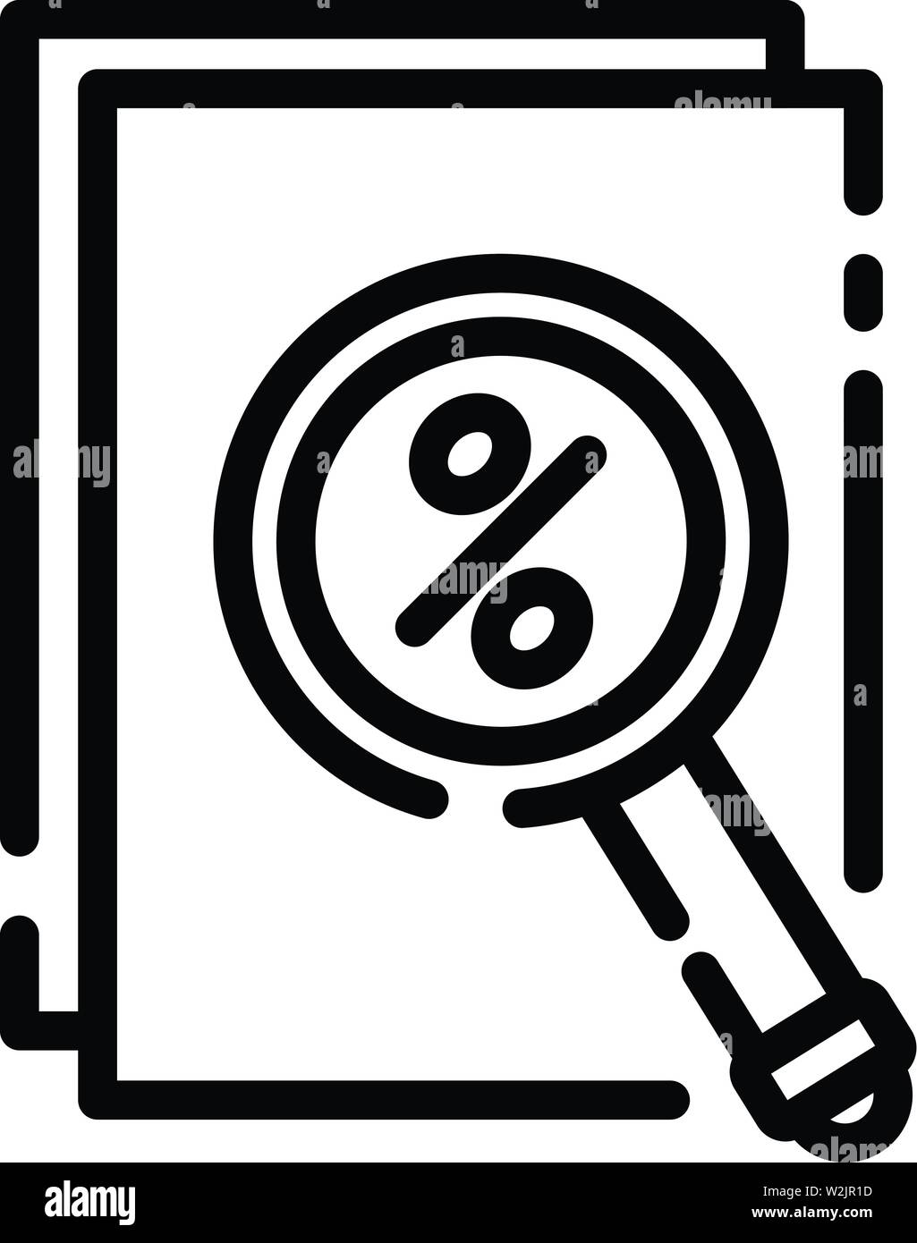 Finance percent icon, outline style - Stock Image