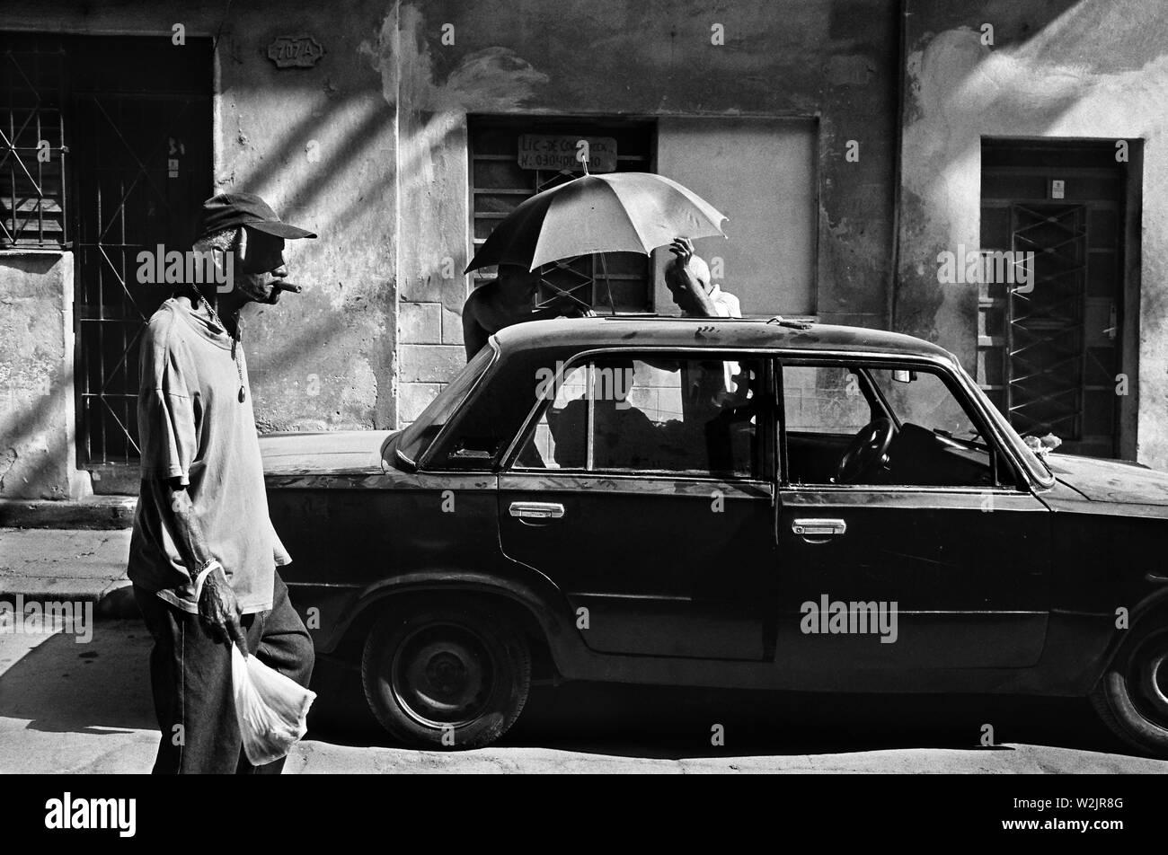 Street scene in Havana - Stock Image