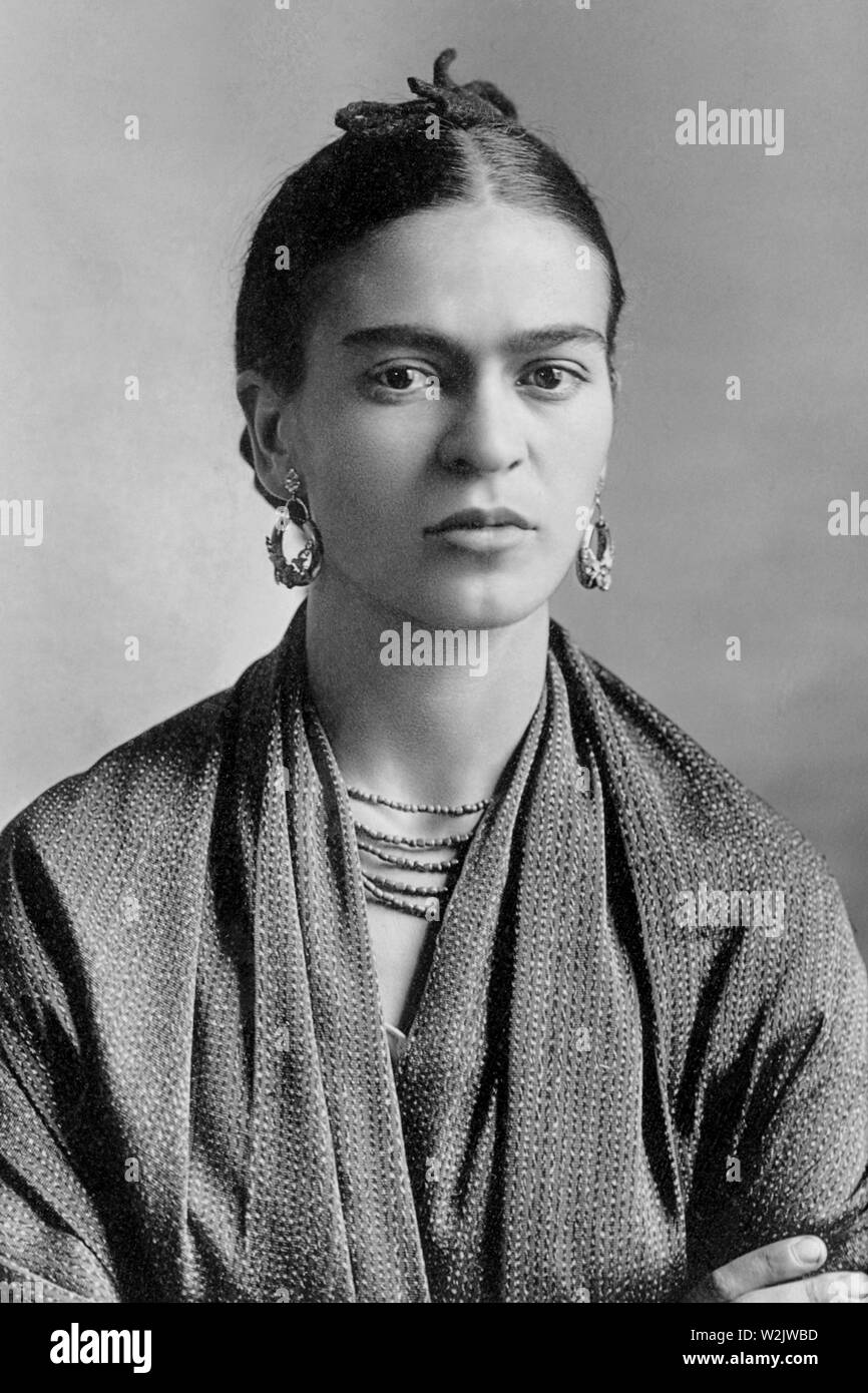 Frida Kahlo (1907 – 1954) Mexican painter - Stock Image