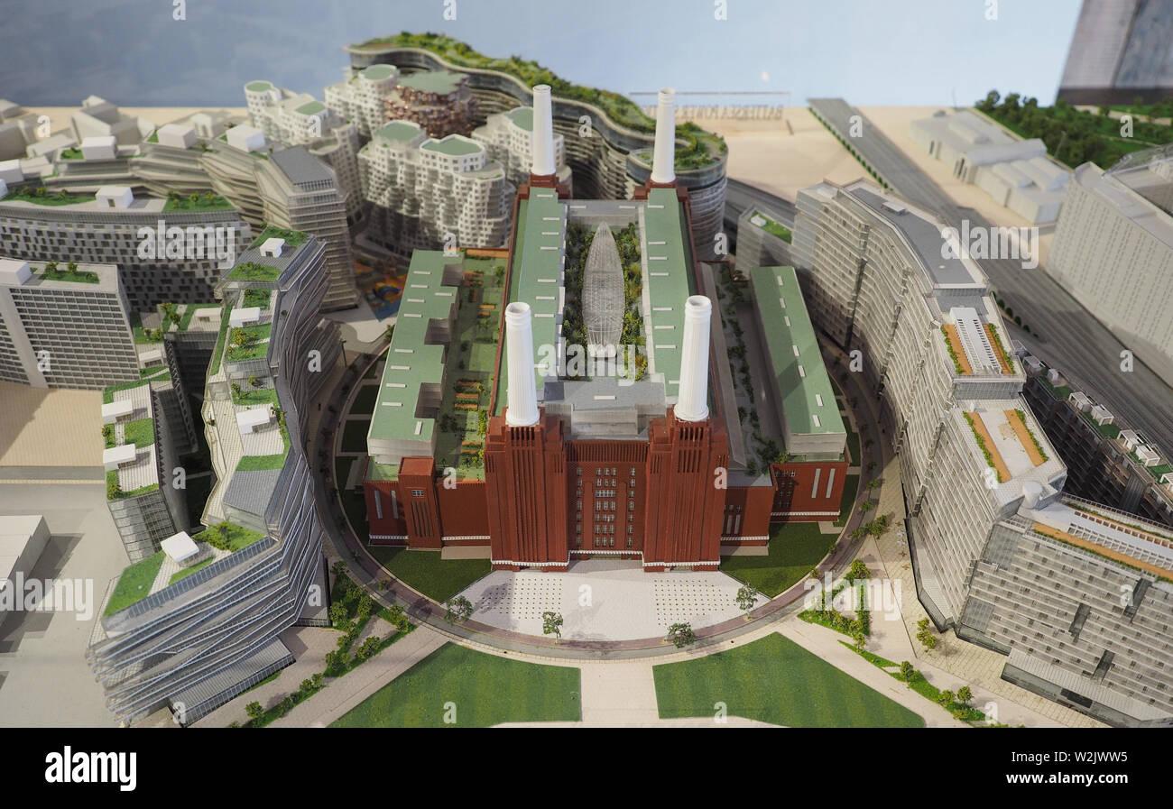 LONDON, UK - CIRCA JUNE 2019: 3D model of the Battersea