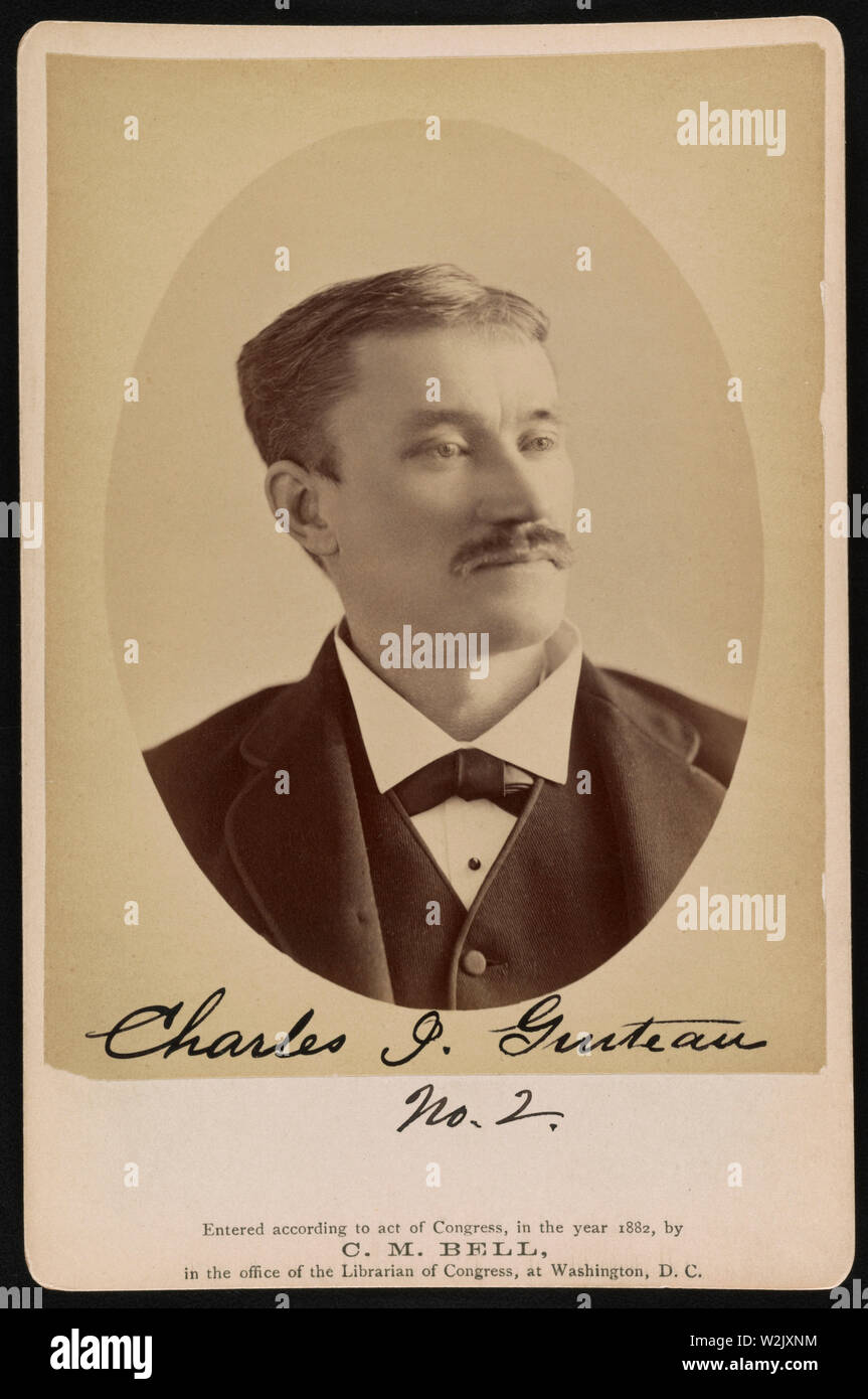 Charles J Guiteau Assassin Of U S President James A Garfield Head And Shoulders Portrait Taken In Jail Washington Dc Usa Photograph By Charles Milton Bell February 6 1882 Stock Photo Alamy