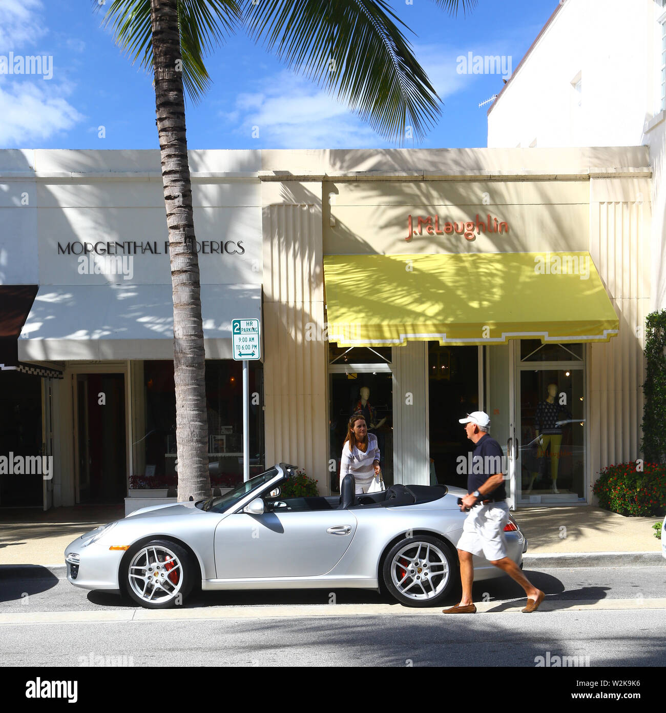 Everyday life in Worth Avenue, Palm Beach Stock Photo