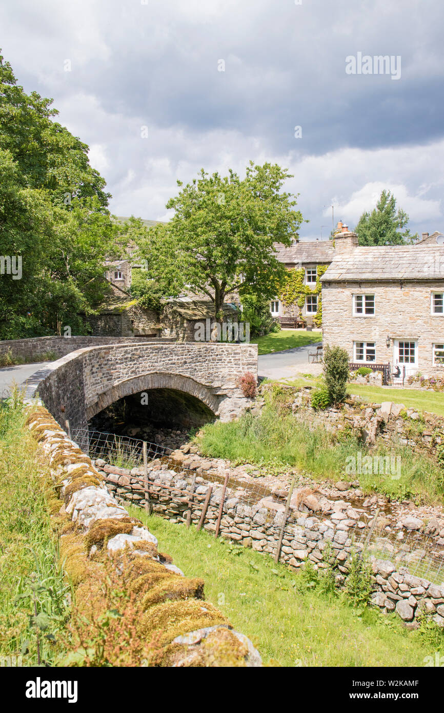 Thwaite is a small village in Swaledale, Richmondshire, Yorkshire Dales National Park, North Yorkshire, England, UK - Stock Image
