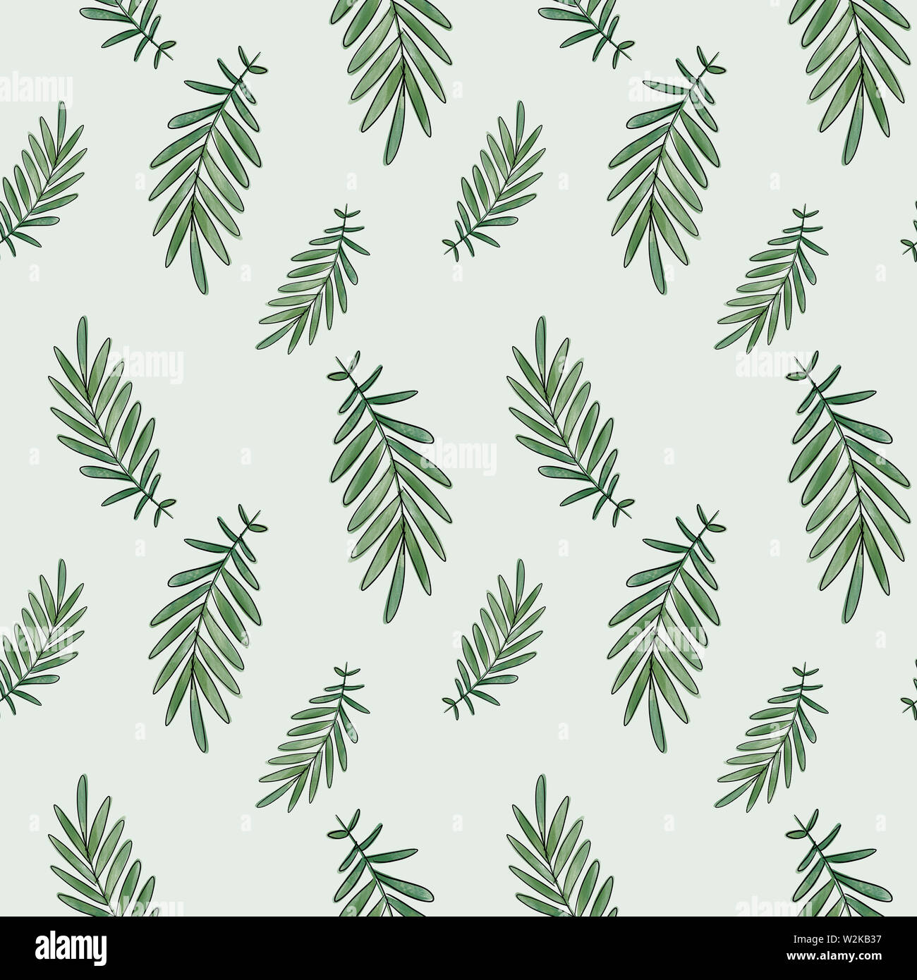 Wallpaper Of Palm Fronds With Green Background Stock Photo Alamy