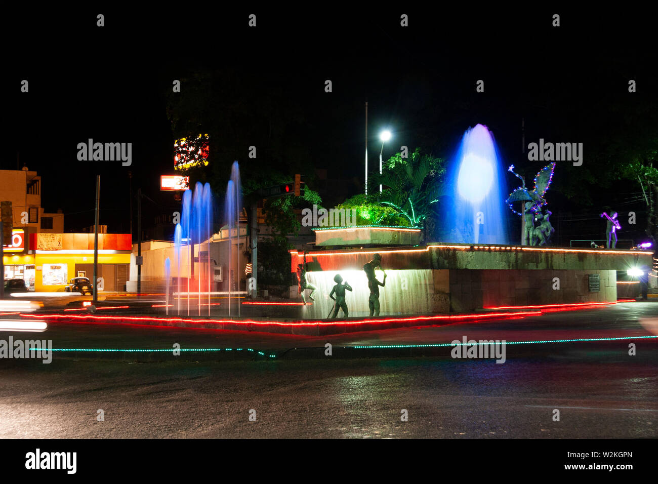 Villahermosa,Tabasco,Mexico.December 18th, 2008.Fountain of the Naughty Children, cultural heritage of Tabasco. Stock Photo