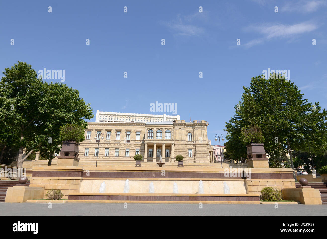 New Museum Park of Azerbaijan on Niyazi Street in Baku - Stock Image