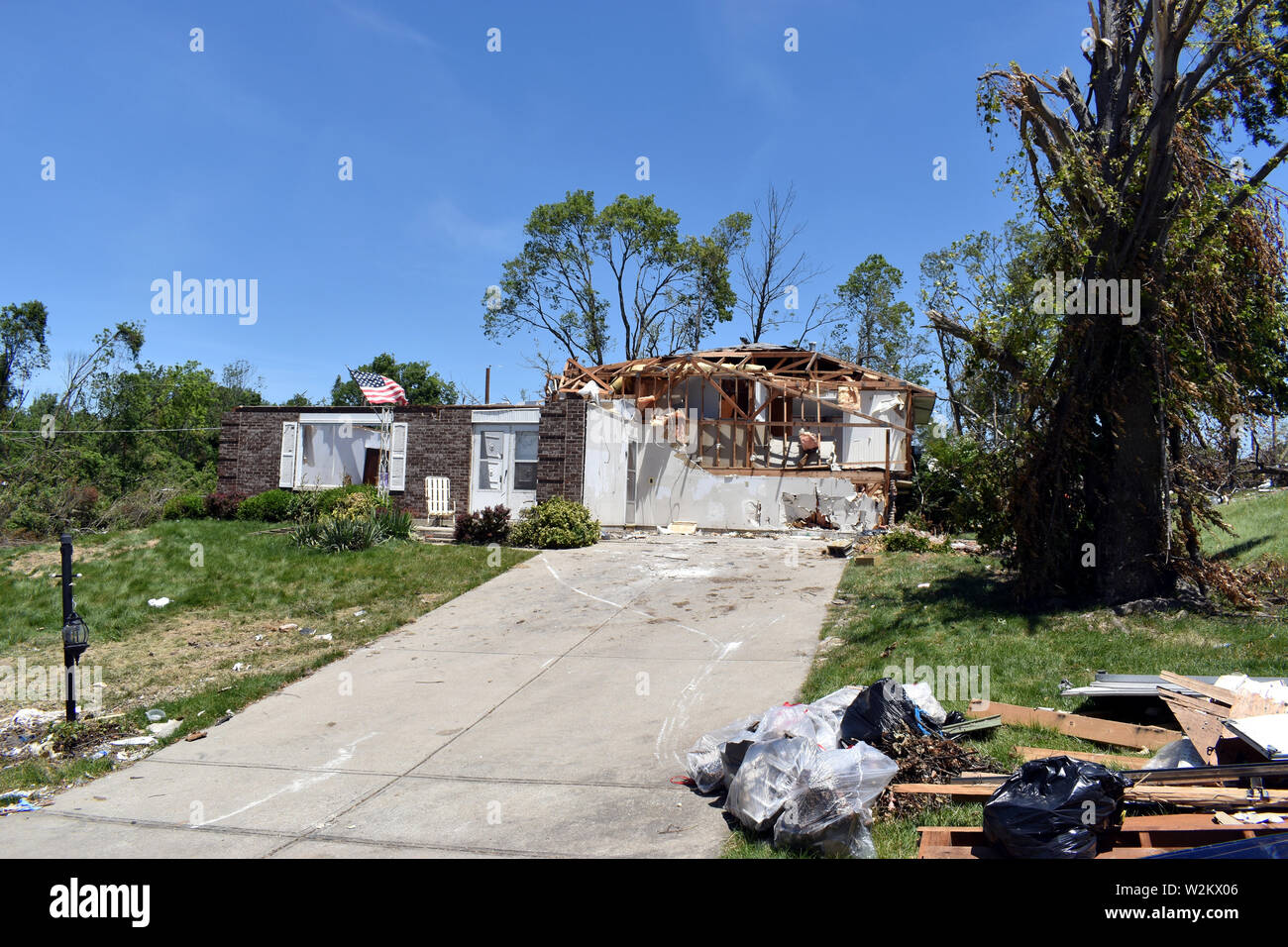Tornado damage that occurred on the 27ty of May 2019 in the