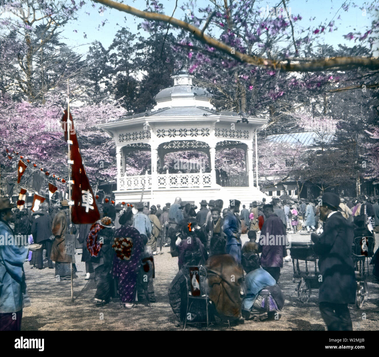 1900s Japan - Western Band Stand at Tokyo Industrial Exhibition