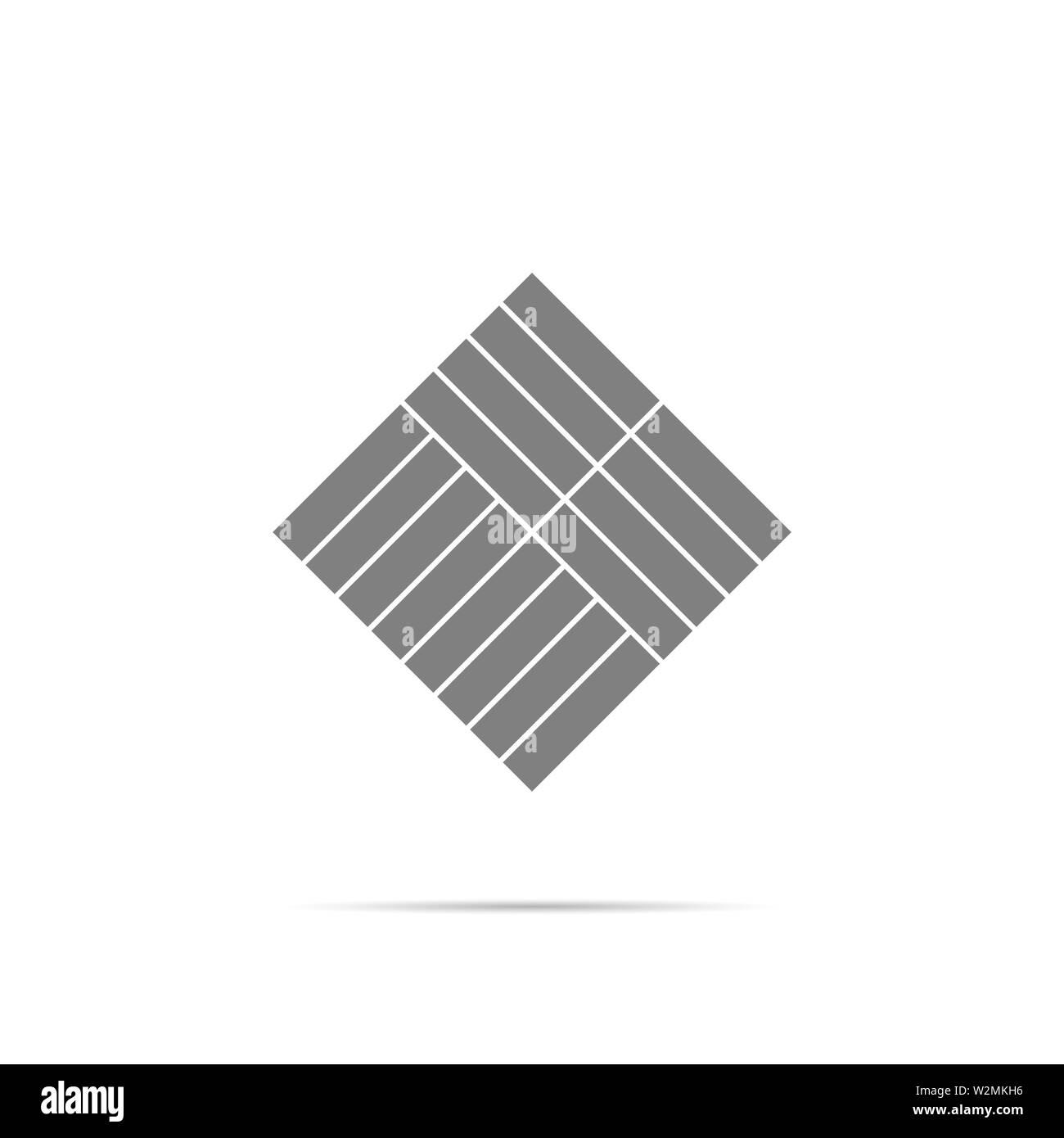 Parquet icon symbol with shadow. Vector eps10 - Stock Image