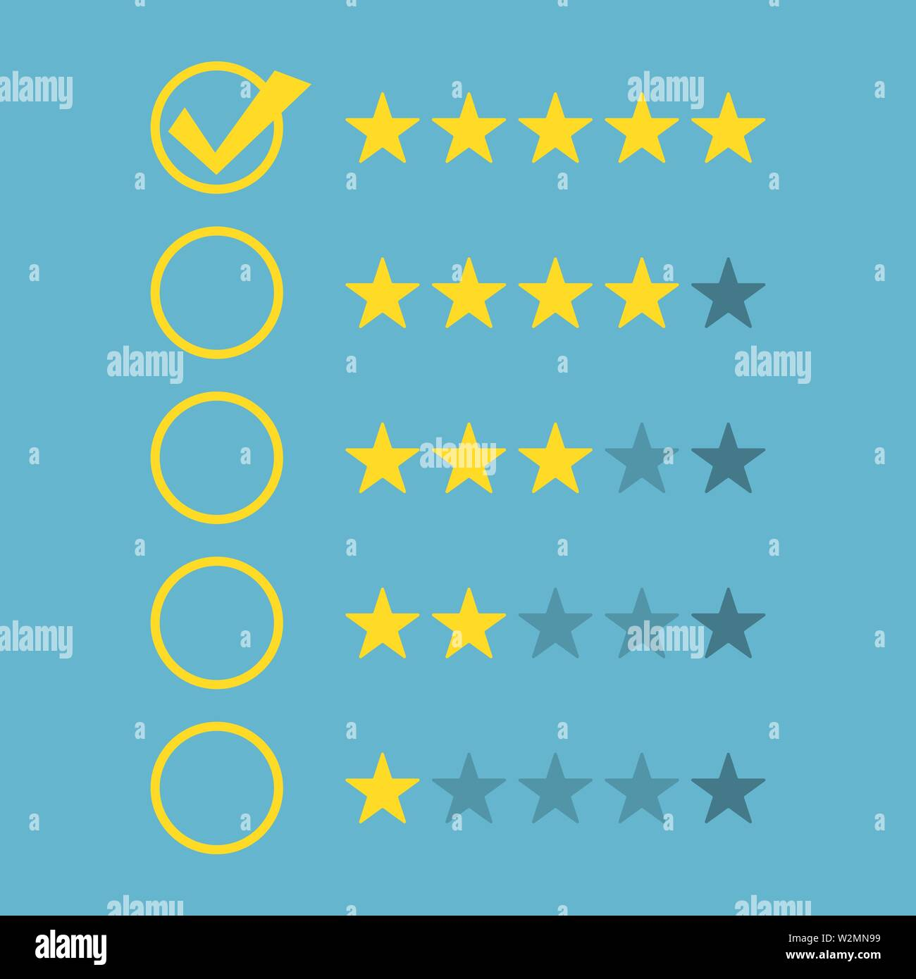 Reting stars icon concept background. Vector eps10 - Stock Image