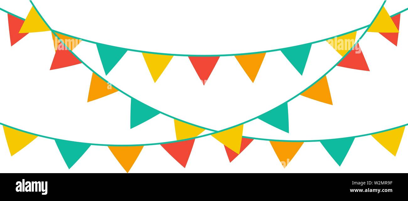 Yellow And White Stripes Personalised Carnival Fete Street Party Bunting Banner