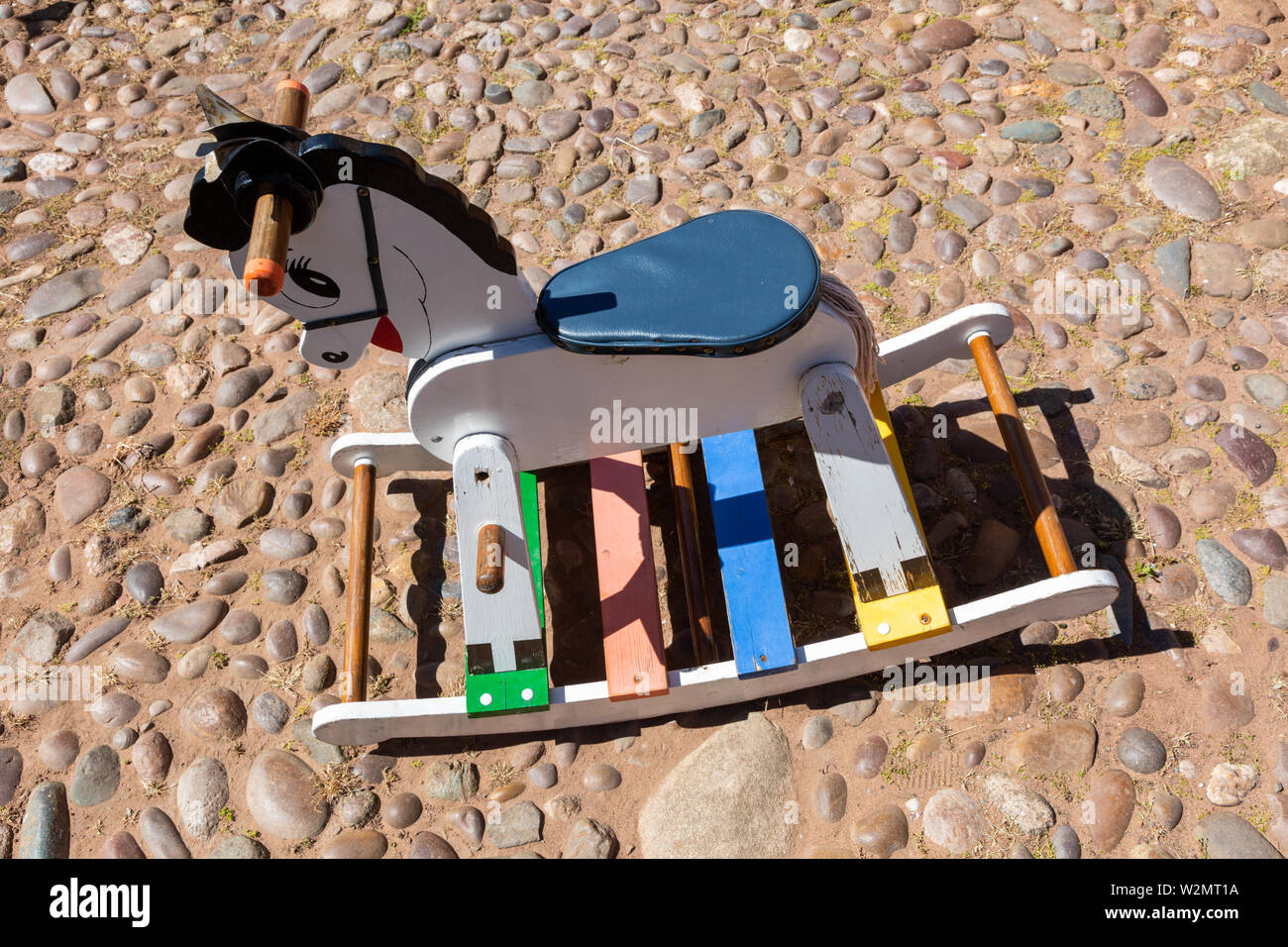 Wooden Rocking Horse Modern And Painted Stock Photo Alamy