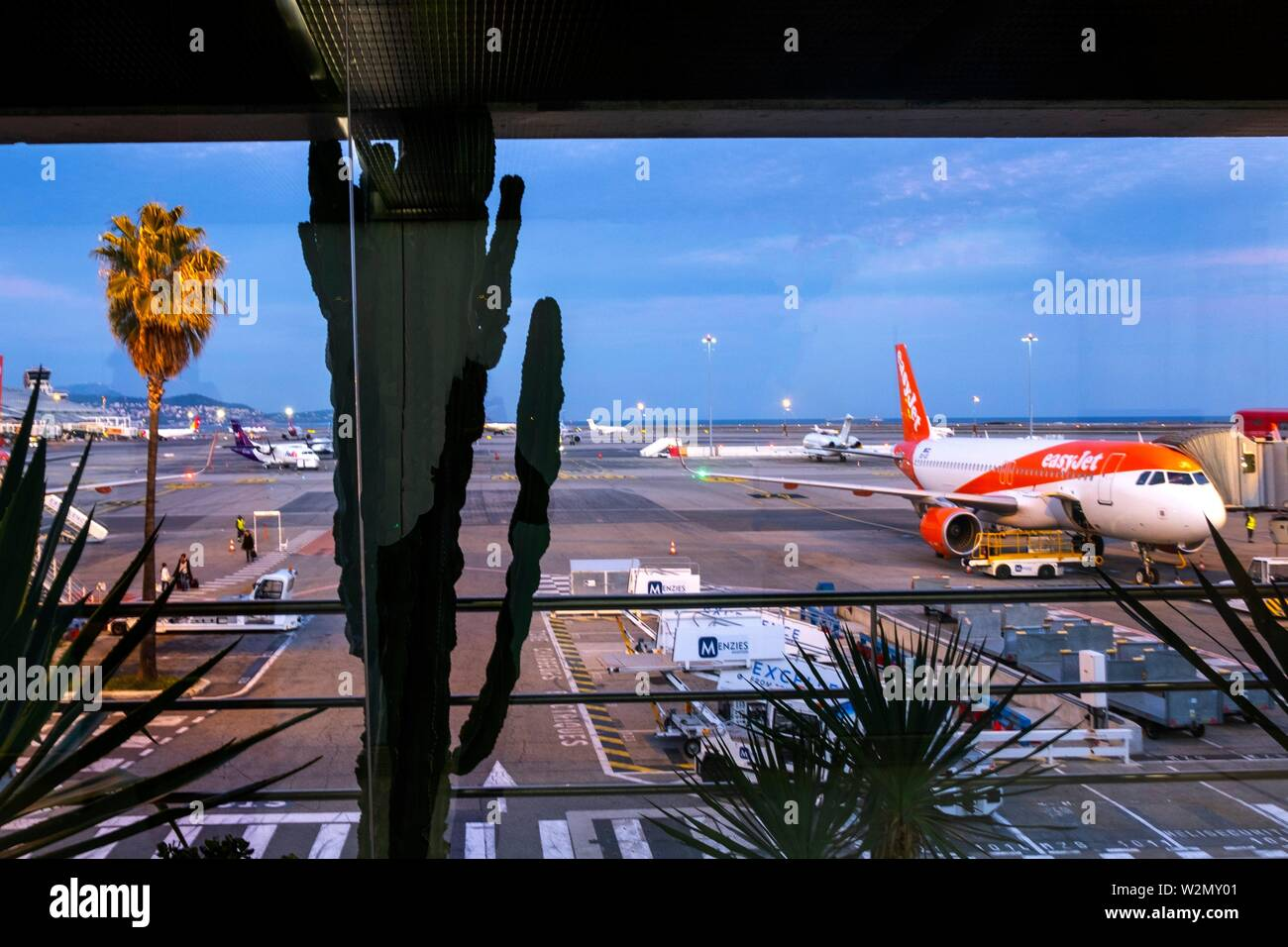 France, Paca, Alpes Maritimes, Nice Cote d´Azur airport. Stock Photo