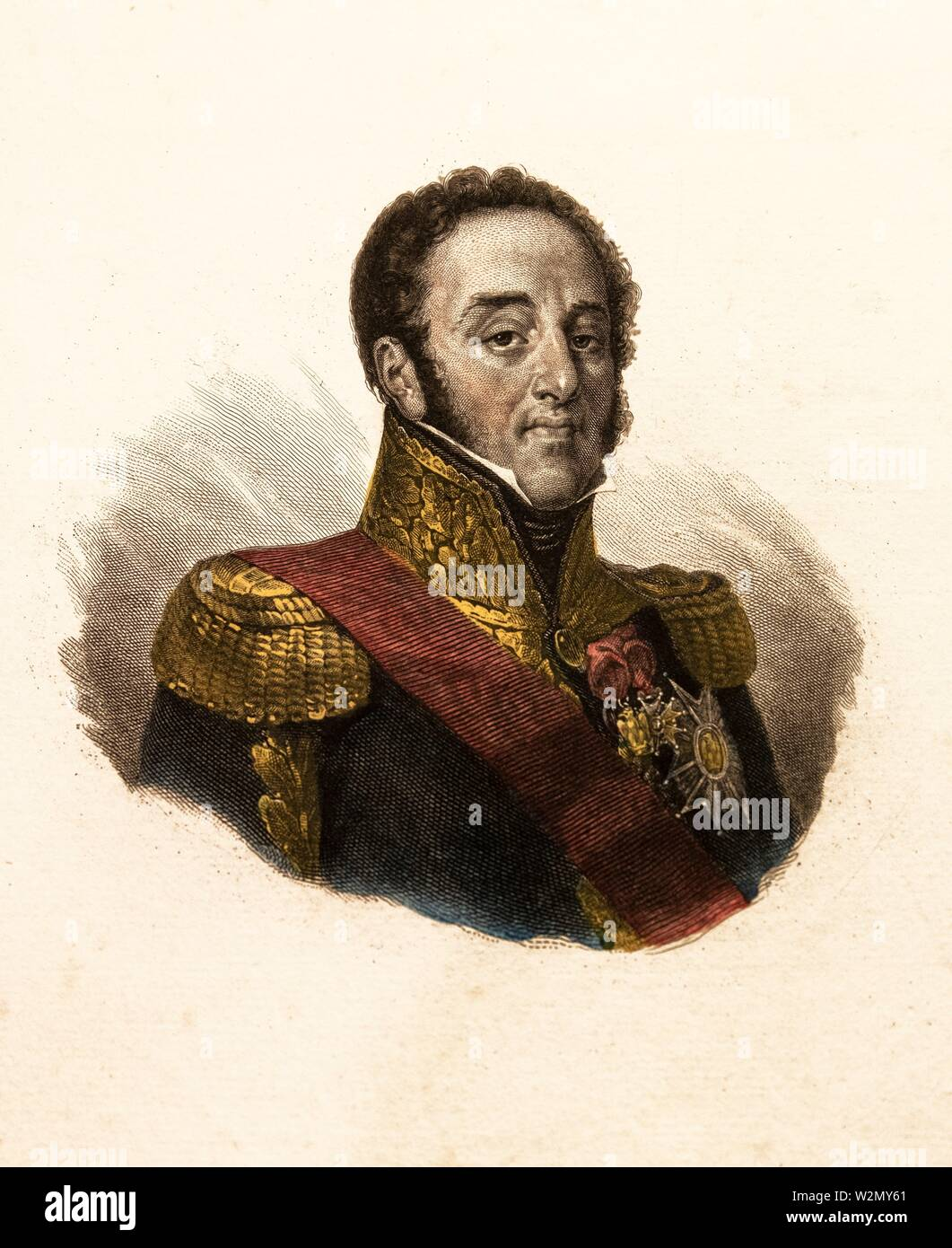 Louis-Gabriel Suchet.Louis-Gabriel Suchet (2 March 1770-3 January 1826), Duke of Albufera , was a French Marshal of the Empire and one of the most - Stock Image