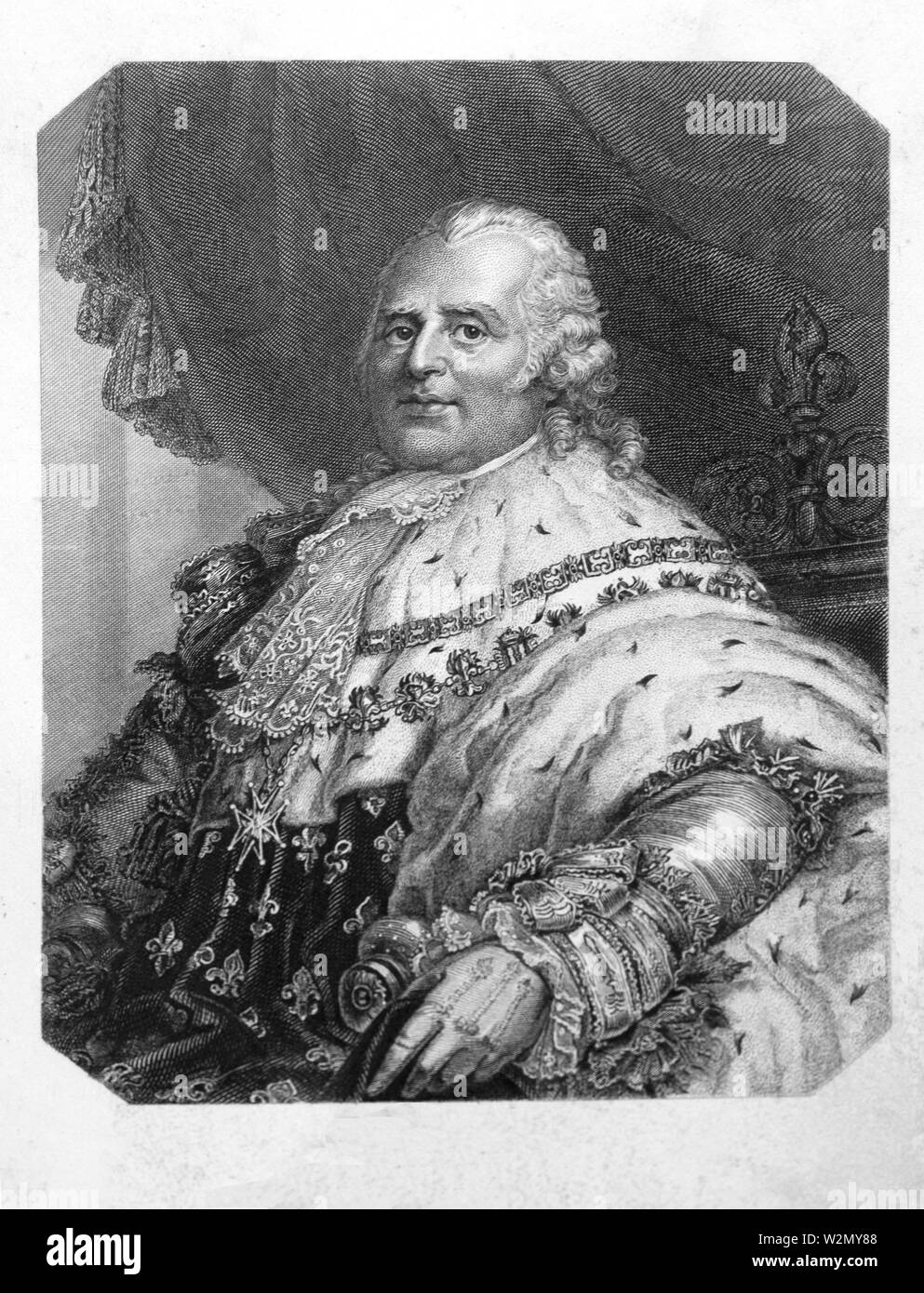 """Louis XVIII of France..Louis XVIII (Louis Stanislas Xavier; 17 November 1755-16 September 1824), known as """"the Desired"""" (le Désiré), was a monarch of Stock Photo"""