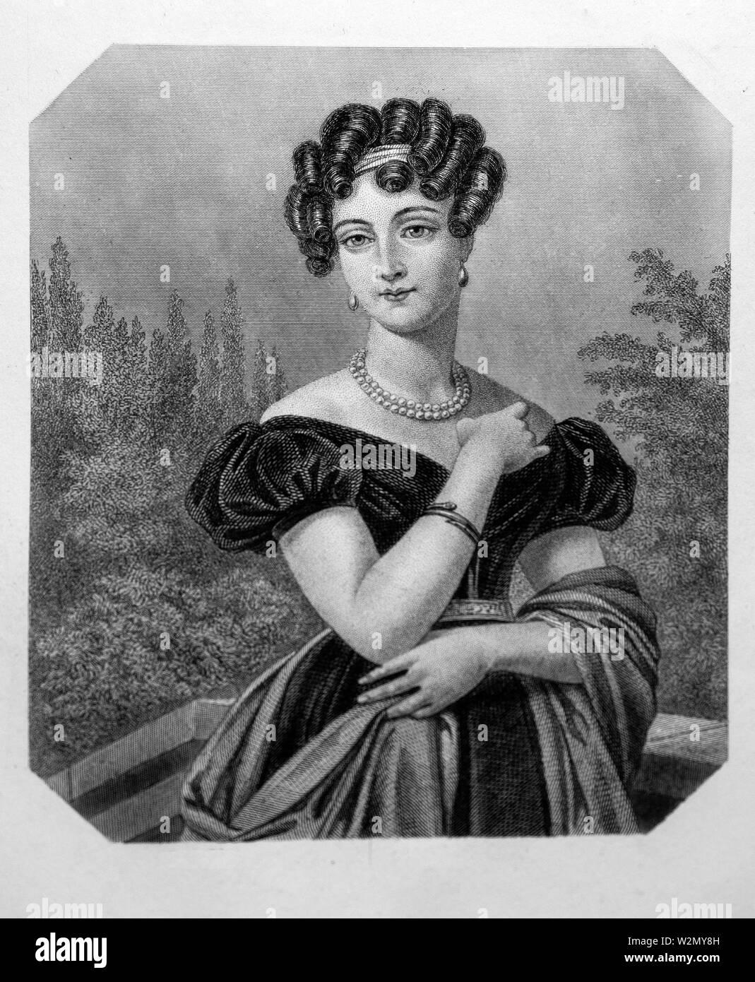 Zoé Talon du Cayla..Zoé Victoire Talon (August 5,1785-March 19, 1852), styled comtesse du Cayla, was an intimate friend and confidante of Louis XVIII - Stock Image
