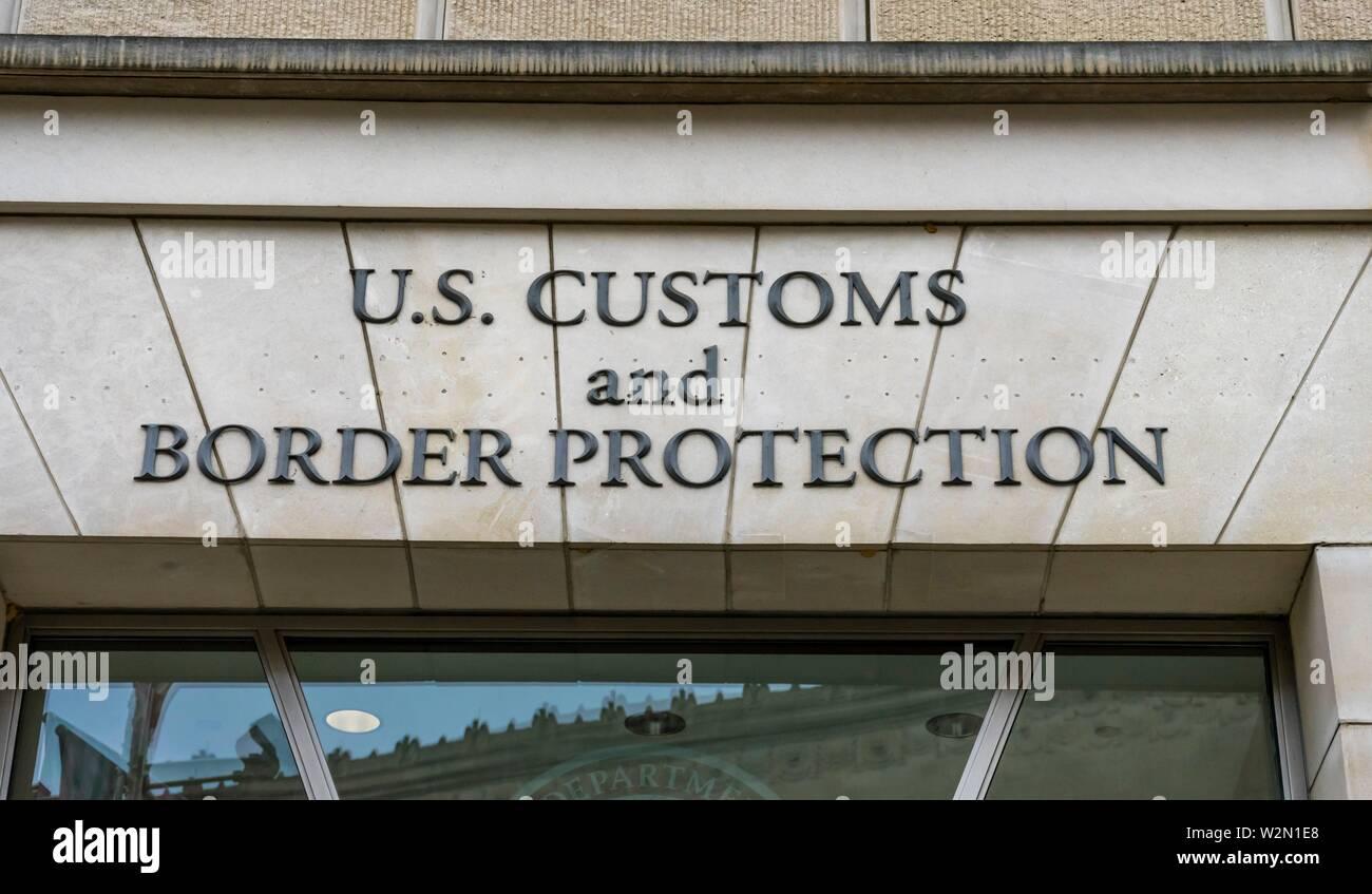 US Customs and Border Protection US Department of Homeland Security Ronald Reagan International Trade Building Washington DC. - Stock Image