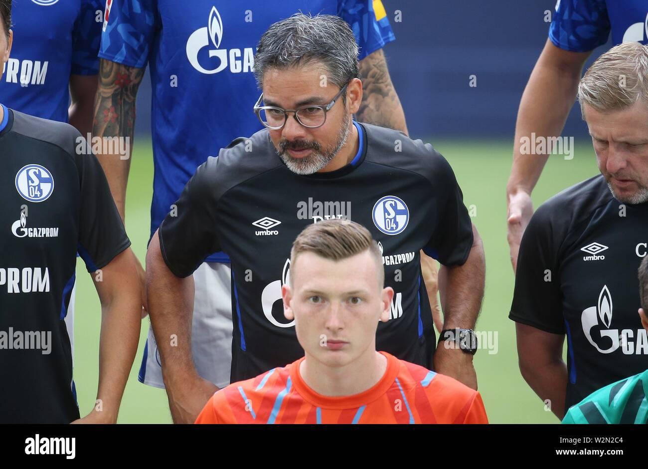firo: 10.07.2019 football, 2019/2020 FC Schalke 04, photo session, photo session coach David Wagner front MArkus Schubert   usage worldwide - Stock Image