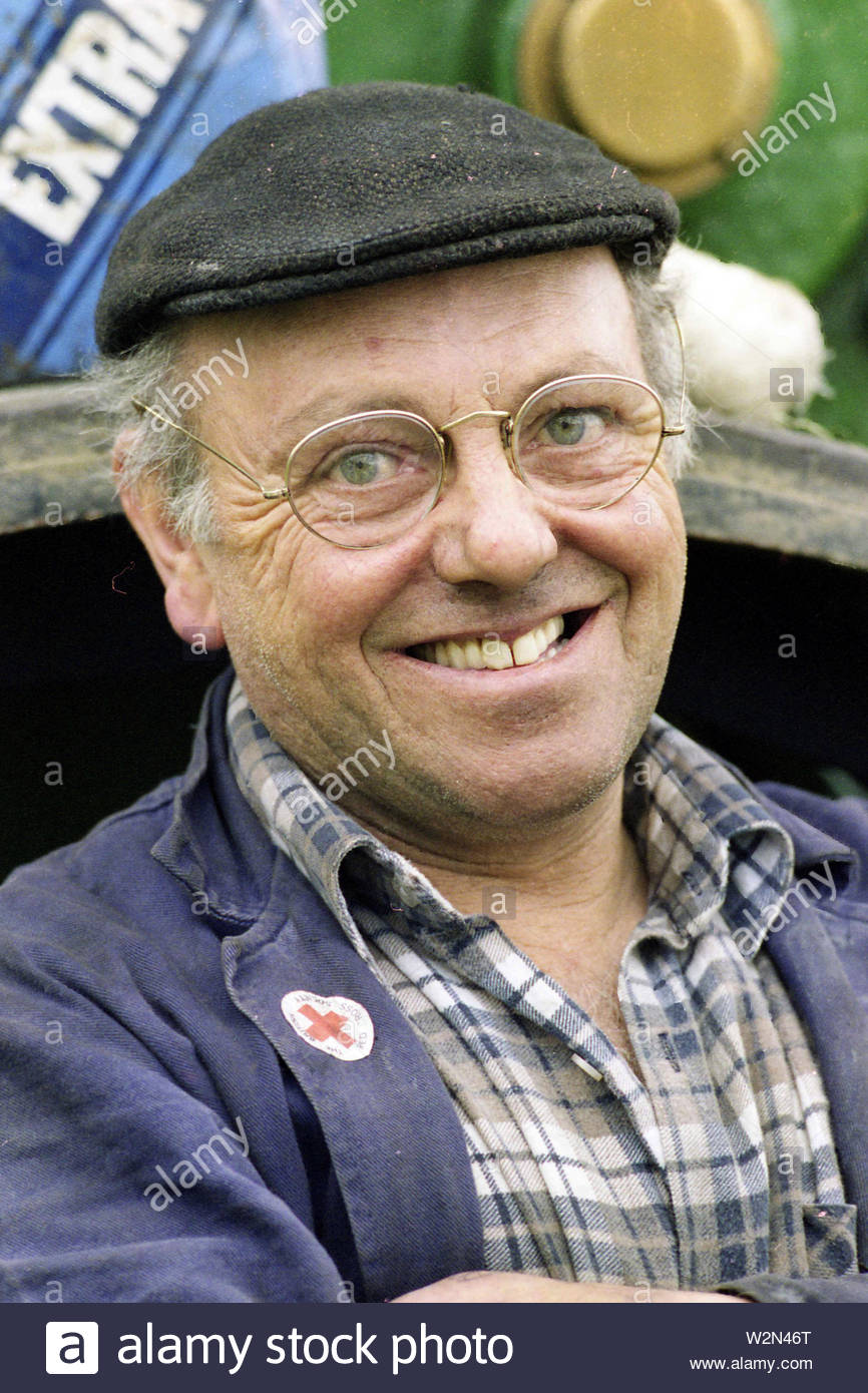 Fred Dibnah MBE photographed at Upton Upon Severn Steam Fair - Stock Image