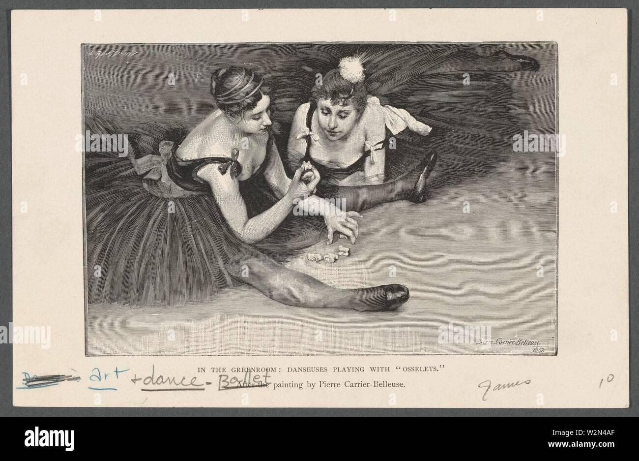 Dance images. Carrier-Belleuse, Pierre, 1851-1932 (Artist) Hansen, J. (Joseph), 1842-1907 (Choreographer). Prints depicting dance Theatrical dancers, - Stock Image
