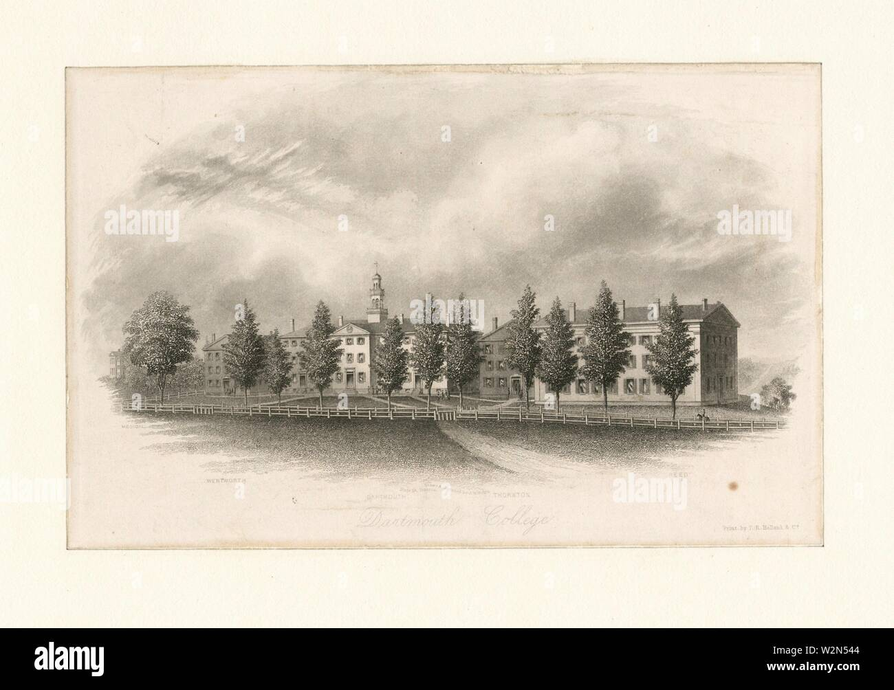 Dartmouth College. Watts, James W. (d. 1895) (Artist) Watts, James W. (d. 1895) (Engraver). Emmet Collection of Manuscripts Etc. Relating to American Stock Photo